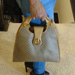 Authentic Vintage Gucci Stirrup Handbag Purse